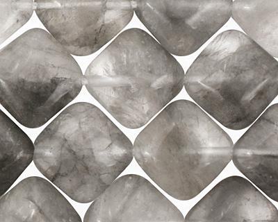 Natural Silver Quartz Diamond 14mm