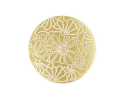 Lillypilly Gold Weathered Daisy Anodized Aluminum Disc 25mm, 22 gauge