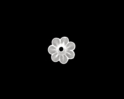 Matte Crystal Lucite Daisy 3x10mm