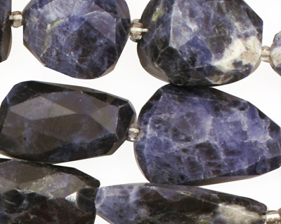 Sodalite Faceted Nugget 17-22x12-15mm
