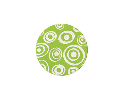 Lillypilly Lime Green Groovy Circles Anodized Aluminum Disc 19mm, 24 gauge