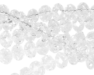 Clear Crystal Faceted Rondelle 8mm