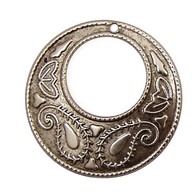Stampt Antique Pewter (plated) Paisley Gypsy Hoop 38mm