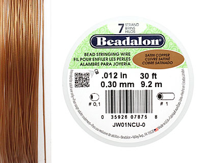 Beadalon Satin Copper .012