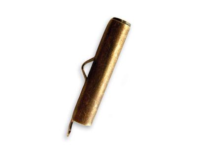 Vintaj Natural Brass Bead Pod Toggle Bar 24x7mm
