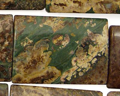 Chinese Ocean Jasper Thin Pillow 35x25mm
