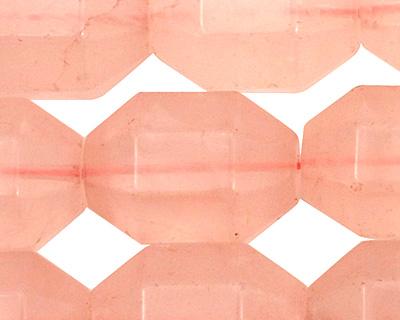 Rose Quartz Faceted Barrel 21-22x15mm