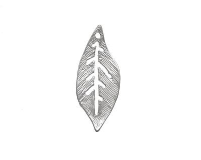 Ezel Findings Rhodium (plated) Palm Leaf 10x24mm