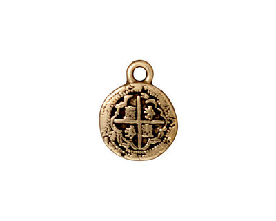 TierraCast Antique Gold (plated) Piece of 8 Charm 13x17mm