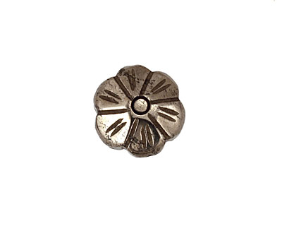 Golden Pyrite (silver tone) Carved Daisy 16mm