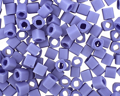 TOHO Opaque Frosted Periwinkle Cube 4mm Seed Bead