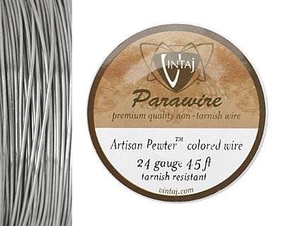 Vintaj Pewter Parawire 24 gauge, 45 feet