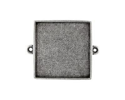 Nunn Design Antique Silver (plated) Grande Square Bezel Link 34x42mm