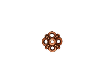 TierraCast Antique Copper (plated) Clover Bead Cap 8x9mm