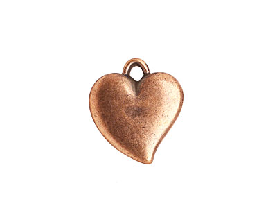Stampt Antique Copper (plated) Curving Heart 16x18mm