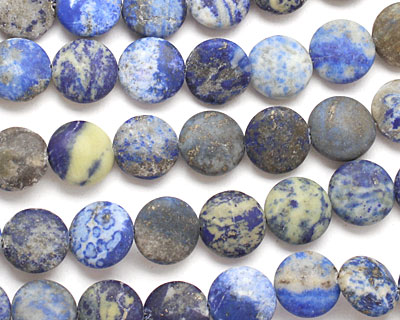 Sodalite (matte) Puff Coin 14mm