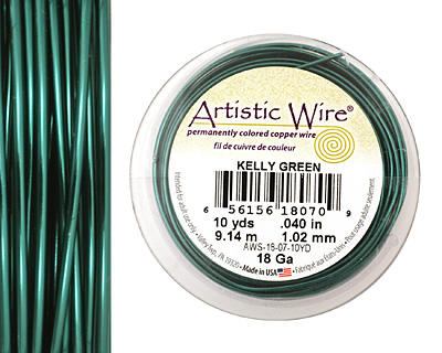 Artistic Wire Kelly Green 18 gauge, 10 yards