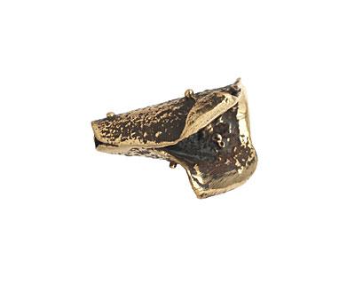 Saki Bronze Small Textured Cone 20x15mm