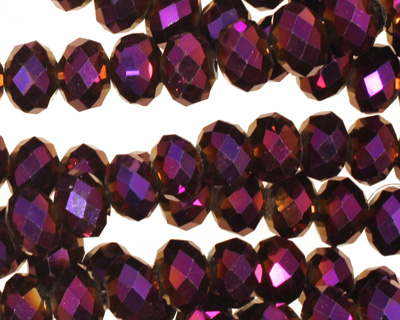 Metallic Gold Raspberry Crystal Faceted Rondelle 8mm