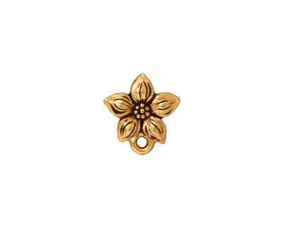 TierraCast Antique Gold (plated) Star Jasmine Ear Post 12x13mm