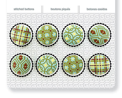 Seaspray Stitched Buttons 17mm