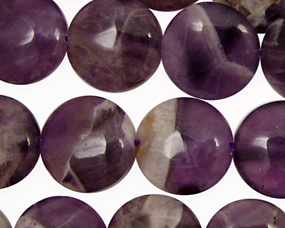 Dogtooth Amethyst Puff Coin 16mm