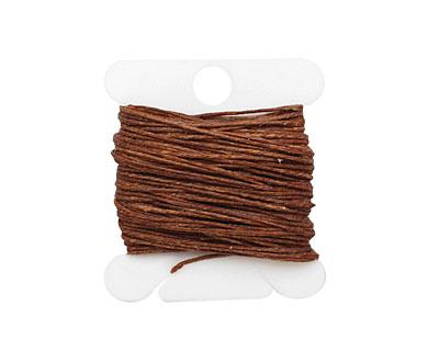 Walnut Brown Irish Waxed Linen 3 ply