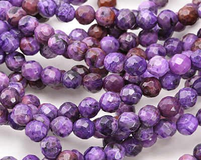 Purple Crazy Lace Agate Faceted Round 6mm