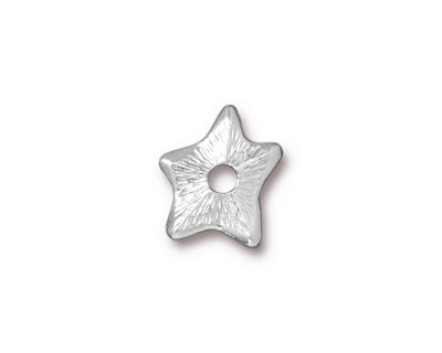 TierraCast Rhodium (plated) Star Rivetable 14mm