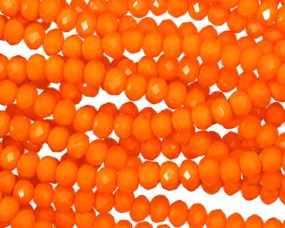 Pumpkin Crystal Faceted Rondelle 4mm