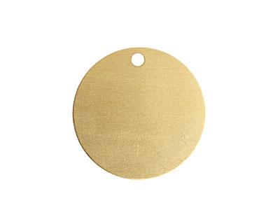 Brass Circle Blank Tag 25mm (w/ 2mm drill hole)