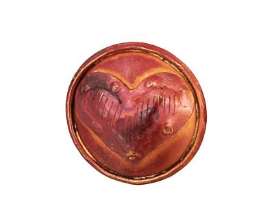 Patricia Healey Copper Heart Button 24mm