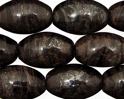 Natural Banded Hematite Rice 20x13mm