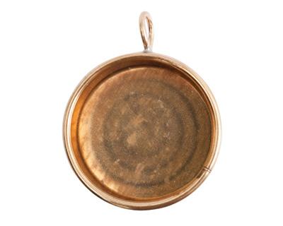 Nunn Design Brass Large Deep Circle Bezel 32x41mm