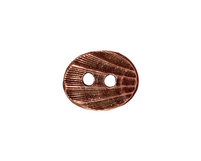 TierraCast Antique Copper (plated) Oval Shell Button 17x14mm