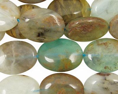 Peruvian Blue Opal Flat Oval 18x13mm