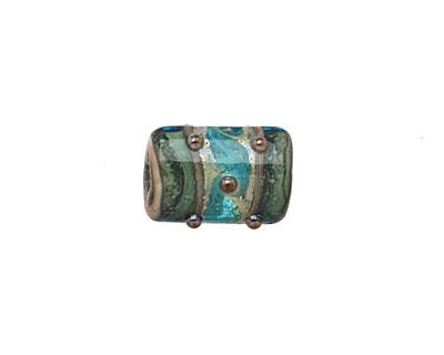 Grace Lampwork Cool Teal Ocean Mini Kalera 15x11mm