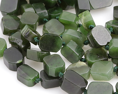 Canadian Jade Nugget Slice 13-15x10-12mm