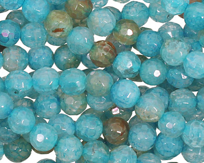 Blue Haze Fire Agate Faceted Round 6mm