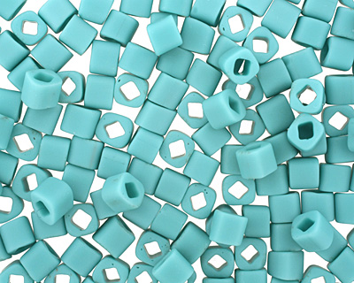 TOHO Opaque Frosted Turquoise Cube 4mm Seed Bead