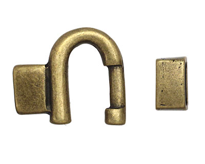 Antique Brass (plated) Horseshoe Clasp 35x24mm