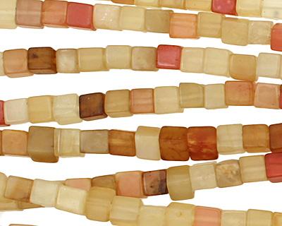 Rainbow Soochow Jade Cube 4mm