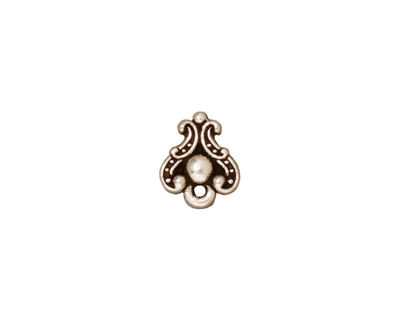 TierraCast Antique Silver (plated) Duchess Ear Post 9x11mm