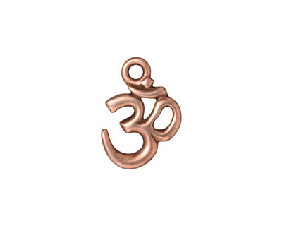 TierraCast Antique Copper (plated) Om Charm 13x18mm