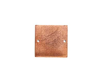 Nunn Design Antique Copper (plated) Flat Small Square Tag Link 23mm