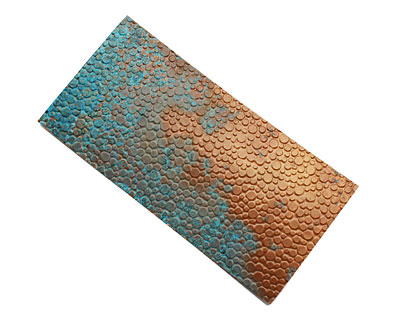 Lillypilly Azul Pebbles Embossed Patina Copper Sheet 3