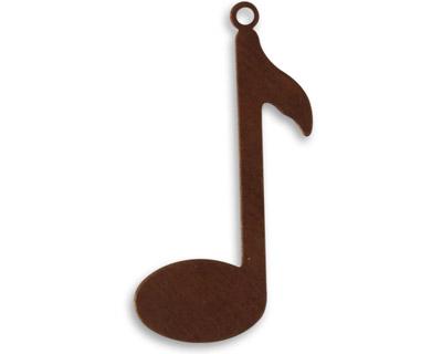 Vintaj Natural Brass Music Note Blank 34x14mm