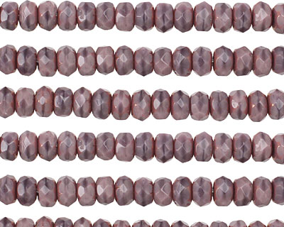 Czech Glass Lilac w/ Copper Fire Polished Rondelle 3x5mm