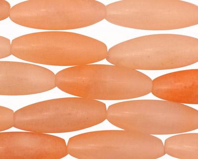 Peach Jade (nat.) Rice 22x8mm