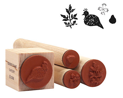 Partridge in a Pear Tree Rubber Stamp Set